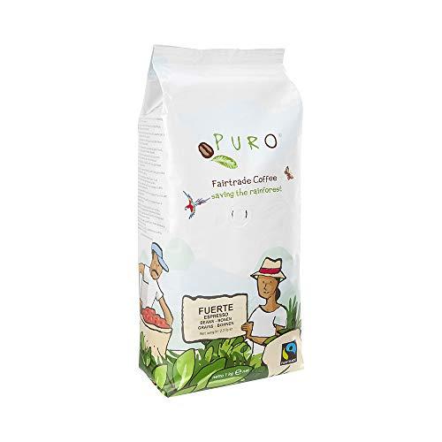 PURO FUERTE fairtrade Espresso Kaffee - 1 KG ganze Bohne