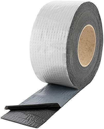 Poppstar Alu Butyl Klebeband (10 m x 75 mm x 1,5 mm) Aluminium Dichtband selbstklebend
