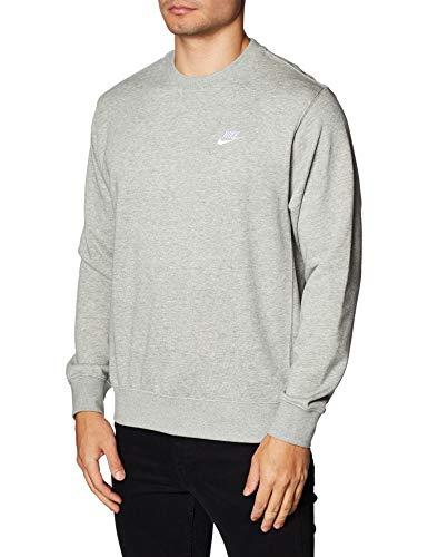 Nike Herren Pullover, Dk Grey Heather/White, L