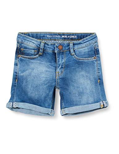 Marc O' Polo Kids Mädchen Jeansshorts Shorts, Blau (Blue Denim Blue 0013), (Herstellergröße: 146)
