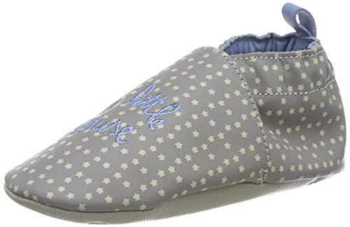 Robeez Unisex Baby Little Mouse Flache Hausschuhe, Grau (Gris 12), 21/22 EU