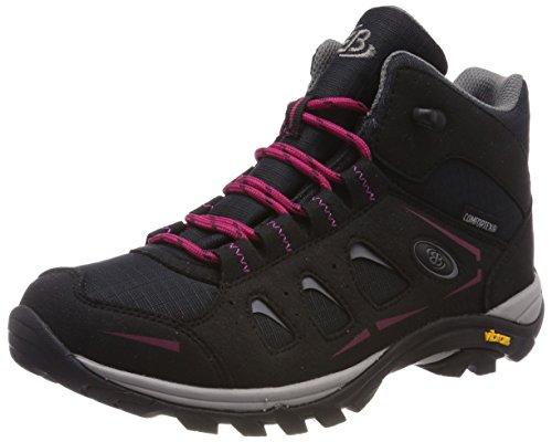 Bruetting Damen Mount Frakes High Trekking- & Wanderstiefel, Schwarz (Schwarz/Pink Schwarz/Pink), 38 EU