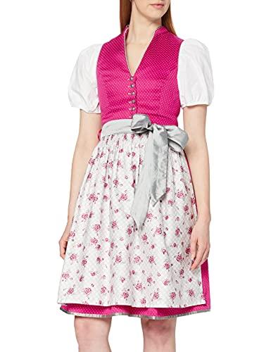 Stockerpoint Damen Rika Dirndl, Mehrfarbig (Pink-Grau Pink-Grau), (Herstellergröße: 38)