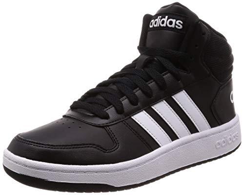 adidas Herren Hoops 2.0 Mid BB7207 Fitnessschuhe, Schwarz (Negbás/Ftwbla/Negbás 000), 44 EU