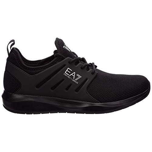 Emporio Armani EA7 X8 X052 XCC57 Sneaker 3D Mesh TPU Schuhe Herren Stoff Schwarz, Schwarz - Schwarz - Größe: 39 1/3 EU