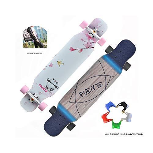 JMG Professionelle Skateboard Komplett Deck Holz-Deck Kommt Mit Schutzausrüstung Werkzeuge Skateboard Rucksack Cruiser Skateboard,Panda