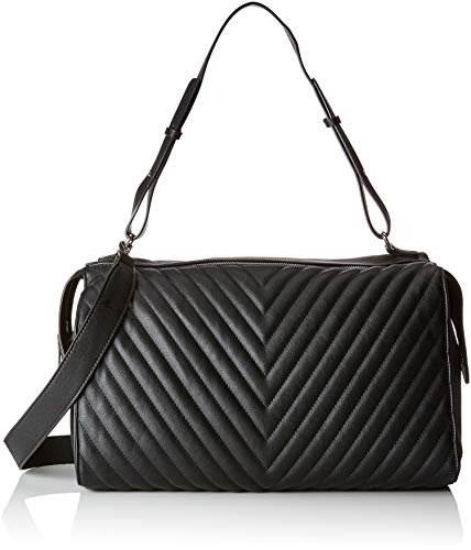 PIECES Damen Pcflorence Large Bag Schultertasche, Schwarz (Black), 16x24x40 cm