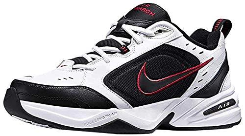 Nike Herren Air Monarch IV Fitnessschuhe, White Black Varsity Red, 45.5 EU
