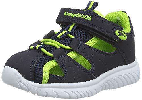 KangaROOS Unisex Baby KI-Rock Lite EV Sneaker, Dark Navy/Lime 4054, 23 EU