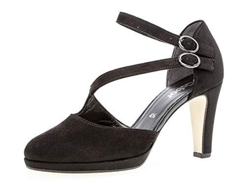 Gabor Damen Riemchen Pumps 21.370.47, Frauen Absatzschuhe,Sandaletten,elegant,fein,schwarz,40.5 EU / 7 UK