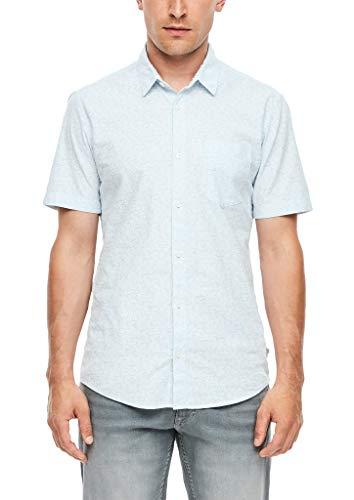 Q/S designed by - s.Oliver Herren Extra Slim: Hemd mit Printmuster Light Blue AOP M