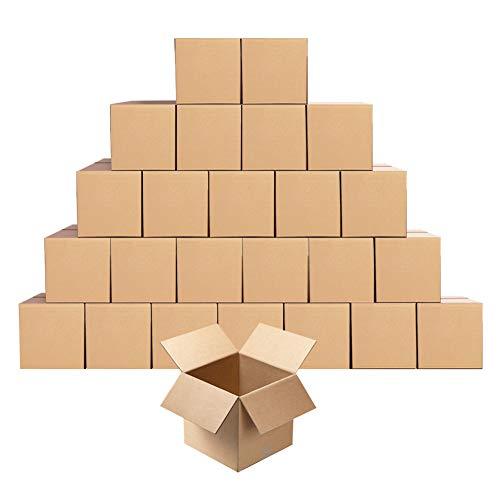 Amazon Brand - Eono Kleiner Versandkarton aus Wellpappe, 12,7 x 12,7 x 12,7cm,Würfelkarton 25er-Pack
