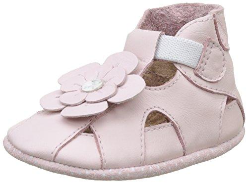 Robeez Unisex Baby Pretty Pansy Krabbelschuhe, Pink (Rose), 19/20 EU