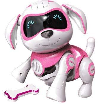 RCTecnic Roboterhund für Kinder ROCK Puppy Roboter Hund Interaktiv Kinder Spielzeug mit Emotionen und Bewegung, Bellen und Spielen mit Knochen, Akku und USB-Kabel, Roboter Kinder Spielzeug Hund