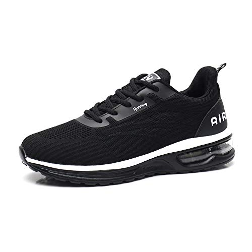 Axcone Laufschuhe Herren Damen Sportschuhe Straßenlaufschuhe Sneaker Joggingschuhe Turnschuhe Walkingschuhe Traillauf Fitness Schuhe-9001BK40