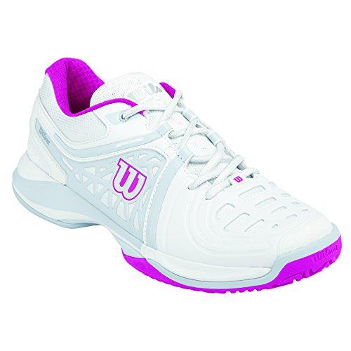 Wilson Nvision Elite Woman,   Tennisschuhe, Weiß (White/Steel Grey/Cool Grey W), 41 1/3 EU (7.5 UK)