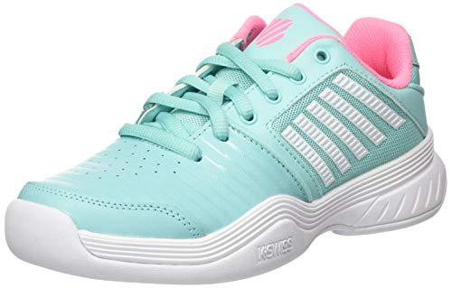 K-Swiss Performance KS TFW Court EXP Carpet SFT PNK/WHT Tennisschuh, Aruba Blue/Soft neon pink/White, 36 EU