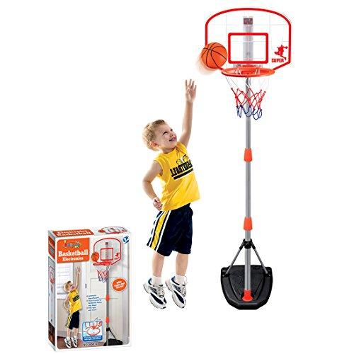 TONGJI 97-170cm Basketballkorb Kinder Einstellbare Basketballständer Mit Scoring-Gerät Für Drinnen Und Draußen 3 Jahre