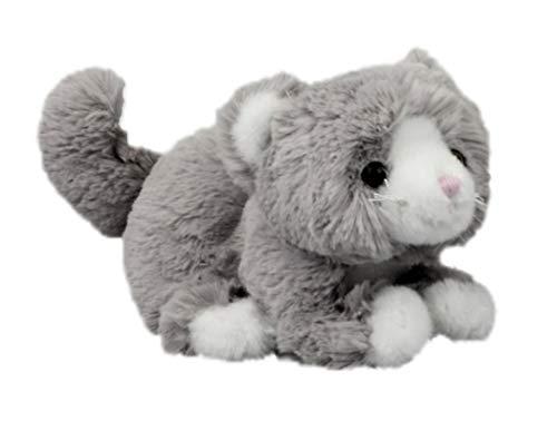 Inware 6243 - Kuscheltier Katze Minnie, grau, 20 cm, Schmusetier, Plüschtier