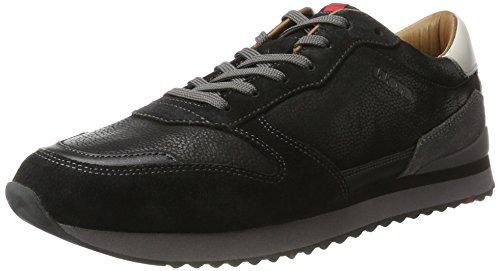 LLOYD Herren Edwin Sneaker, Schwarz (Schwarz/Grey), 40.5 EU