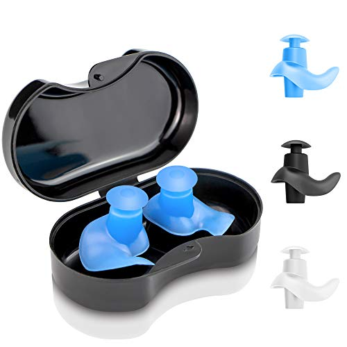 arteesol Ohrstöpsel Schwimmen - 3 Paar Wiederverwendbare weiche Silikonohrstöpsel zum Schwimmen, Duschen und für andere Wassersportarten (3 Farbe)
