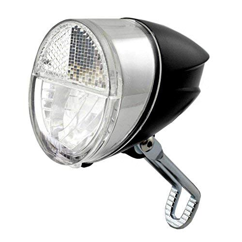 nean Fahrrad-Dynamo-CREE-LED-Licht-Lampe, Frontleuchte, mit Lichtautomatik, 30 Lux, StVZO Zulassung