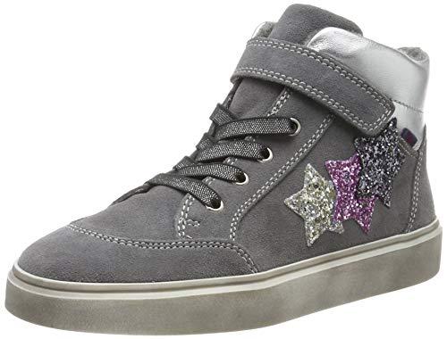 Richter Kinderschuhe Mädchen Ryana Hohe Sneaker, Grau (Ash/Silver/Cand/Stee 6301), 27 EU