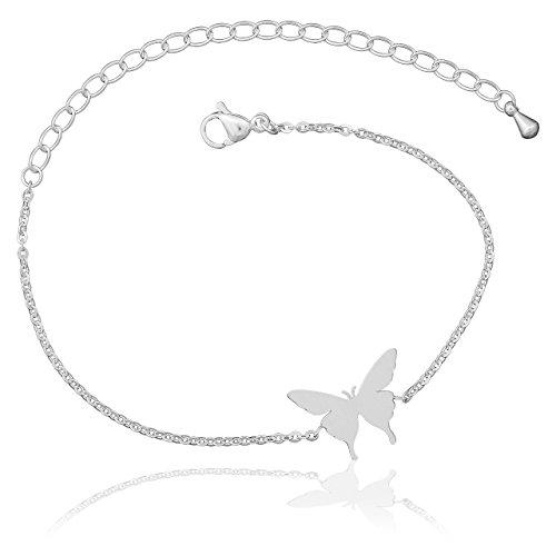 Selia Schmetterling Armband Butterfly Armreif minimalistische Optik Liebe handgemacht (Silber)
