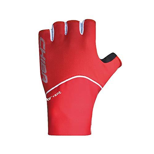 Chiba Team Racer Fahrrad Handschuhe kurz rot 2018: Größe: L (9)