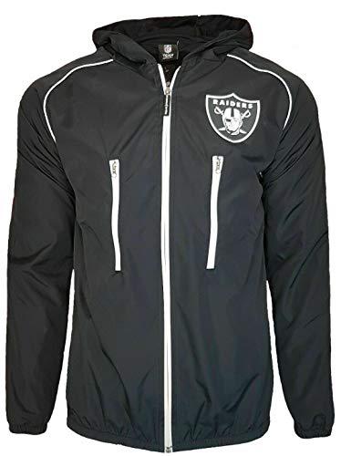 NFL Oakland Raiders Regenjacke S Schwarz