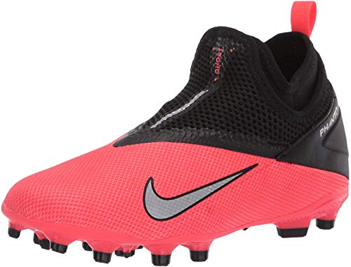 Nike Unisex Phantom VSN 2 Academy DF FG/MG Fußballschuhe, Rot (Laser Crimson/Metallic Silver-606), 41 EU