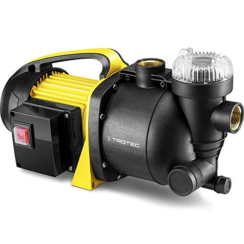 TROTEC Gartenpumpe mit Filter TGP 1005 E Wasserpumpe Rasensprenger 1.000 Watt Leistung 3.300 l/h Förderleistung