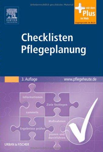 Checklisten Pflegeplanung: mit www.pflegeheute.de-Zugang