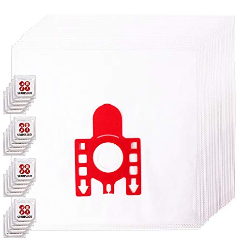 Spares2go FJM Hyclean Staubsaugerbeutel, kompatibel mit Miele S200-299 S241 256i S290 Staubsauger (Packung mit 20 Beuteln + Lufterfrischer-Tabs)