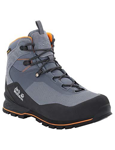 Jack Wolfskin Herren Wilderness LITE Texapore MID M Trekking- & Wanderstiefel, Grau Pebble Grey Black 6507, 41 EU