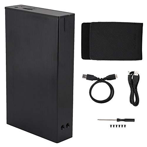 ASHATA 2,5-Zoll-Externe Festplattenbox, USB 3.0-Computer-RAID-Festplattenbox, Aluminiumlegierung, 10-TB-Massenspeicher, JMS561-Chip