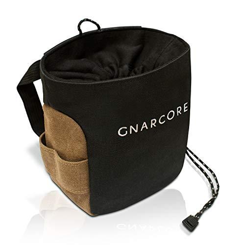 GnarCore Chalk Bag   professioneller Magnesiumbeutel z. Bouldern u. Klettern   Kalktasche f. Gewichtheber   staubdichtes Nylon-Verschlusssystem