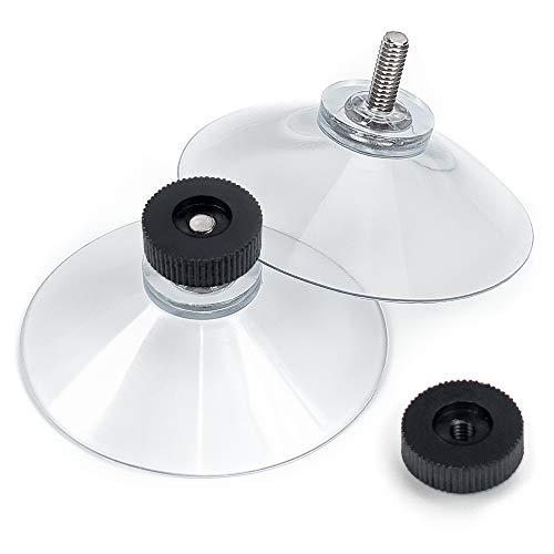 schildEVO Saugnäpfe Ø 50 mm | Gewinde 10 mm | V2A Edelstahl | Rändelmutter | DHL-Versand | HOCHWERTIG - Made in Germany (Schwarze Rändelschrauben, 10)