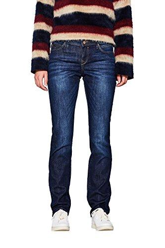 edc by ESPRIT Damen Stretch Organic Cotton Straight Jeans, Blue Dark Wash 901, 27W / 30L