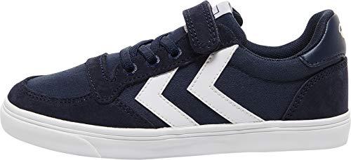 hummel Unisex Kinder Slimmer Stadil Low Jr Sneaker, Dress Blue, 32 EU