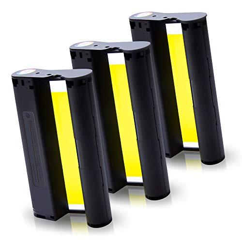 Pristar Kompatibel Tintenpatronen für KP-108IN KP108 Farbband für Canon Selphy CP1000 CP1200 CP1300 CP900 CP910 Fotodrucker (ohne Papier) 100 x 148 mm, 3er-Pack