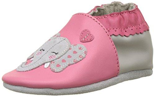 Robeez Unisex Baby GIRLYELEFANT Babyschuhe, Pink (Rose Fonce 132), 23/24 EU