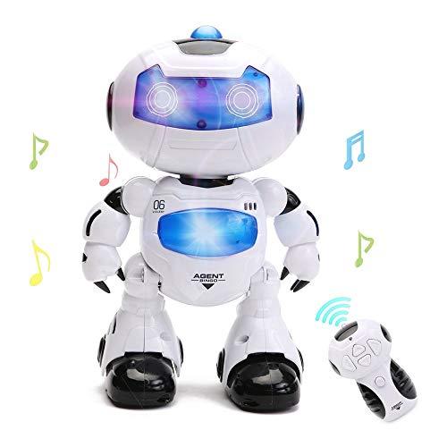 WISHTIME Intelligenter Ferngesteuerter Roboter, Gehfunktion sowie Musik und Licht für Kinder