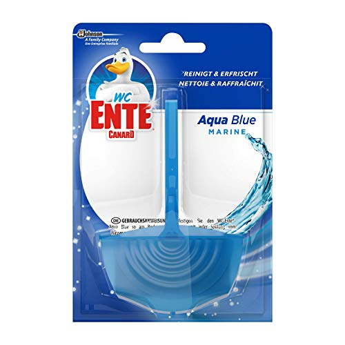 WC-Ente® Aqua Blue Einhänger, WC-Duftspüler, Marine Duft, 1er Pack, (1x40g)