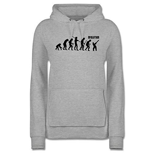 Evolution - Cricket Evolution - XS - Grau meliert - Darwin - JH001F - Damen Hoodie und Kapuzenpullover für Frauen