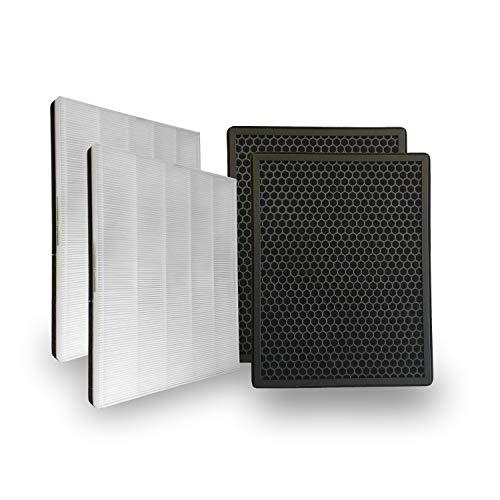 Comedes Ersatzfilterset kompatibel mit Philips AC1214/10 und AC2729/10 Luftreiniger | HEPA- und Aktivkohle-Filter | einsetzbar statt Philips FY1410/30 und FY1413/30 (2 Sets)