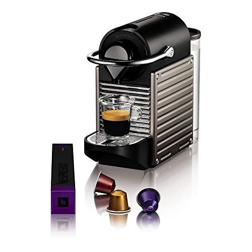 Krups Kapselmaschine Pixie XN304T   19 Bar Druck   Automatische Abschaltung   Itelligente Espressomaschine   0,7 L Wassertank   schwarz/ titan