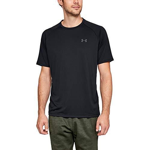 Under Armour Herren Tech 2.0 T-Shirt, Schwarz (Black/Graphite 001), X-Large