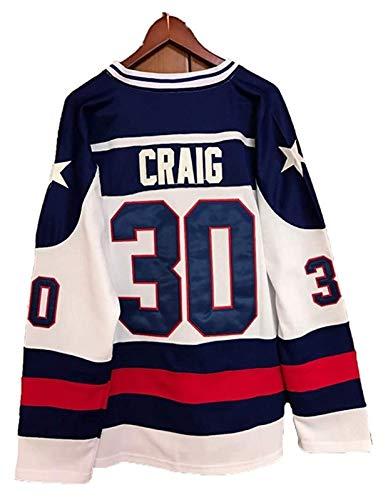 Mike Eruzione #21/ O'Callahan#17 /Jim Craig #30 1980 Miracle USA Eishockey Trikots Jersey NHL Film Herren Sweatshirts Atmungsaktiv T-Shirt Bekleidung (Color : 5, Size : XXL)