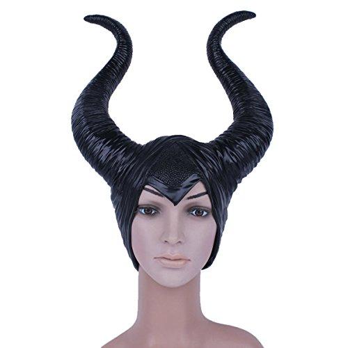 thematys Maleficent dunkle Fee Maske - perfekt für Fasching, Karneval & Halloween - Kostüm für Erwachsene - Latex, Unisex Einheitsgröße
